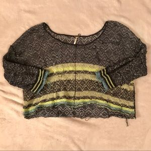 Free People light crop sweater